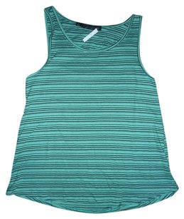 Patterson J. Kincaid Striped Cut-out Cutaway Sleeveless Top Aqua