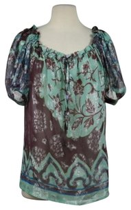 Paul & Joe Womens Floral Top Plum