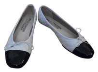 Paul Mayer Quilted white/black Flats