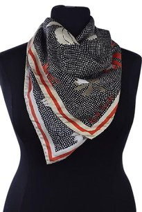 Paul Smith Paul Smith Womens Black Scarf Os Printed Silk Casual