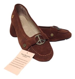 Peace Moccasins Brown Flats