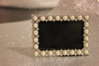Pearl Frames Mini Jeweled Table Numbers Photo Frames