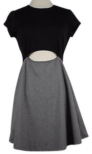 Pencey Womens Black Solid Short Sleeve Rayon Blend Sheath Dress