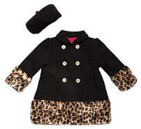 Penelope Mack Penelope Mack Little Girls Faux Fur Coat and Hat