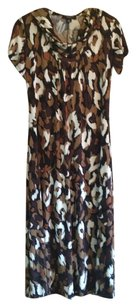 .Perceptions New York short dress Brown and White on Tradesy