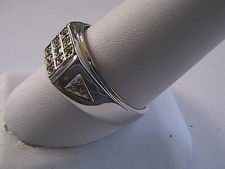 Unknown Sterling Silver 0.3 carats Natural Round Peridot Men Ring