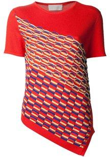 Peter Pilotto Spring Summer Casual Crew T Shirt Red
