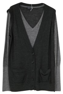 Peter Som Womens Fine Merino Lightweight Boyfriend Cardigan Sweater