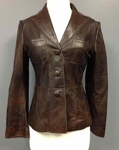 Philippe Adec Leather Brown Jacket