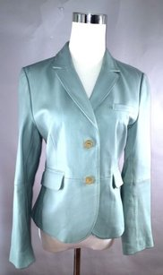 Philippe Adec Phillippe Adec Mint Leather Blazer F5v03bw