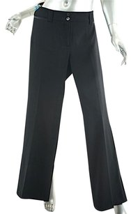 Piazza Sempione Black Wool Relaxed Pants Blacks