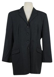 Piazza Sempione Piazza Sempione Womens Gray Blazer 486 Med Wool Career Jacket