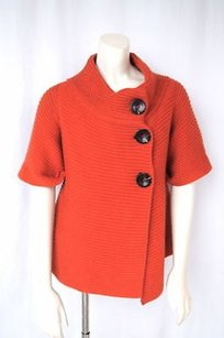 Piazza Sempione Wool Knit Wrap Swing Cardigan Sweater