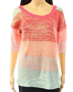 Pink Rose Acrylic Batwing Dolman Sweater