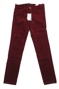 Pinko Corduroy Red Womens Pants