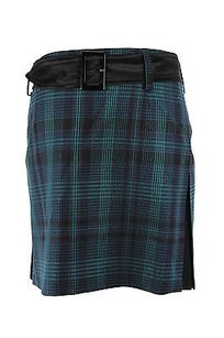 Pinko Tartan Womens Mini Skirt green