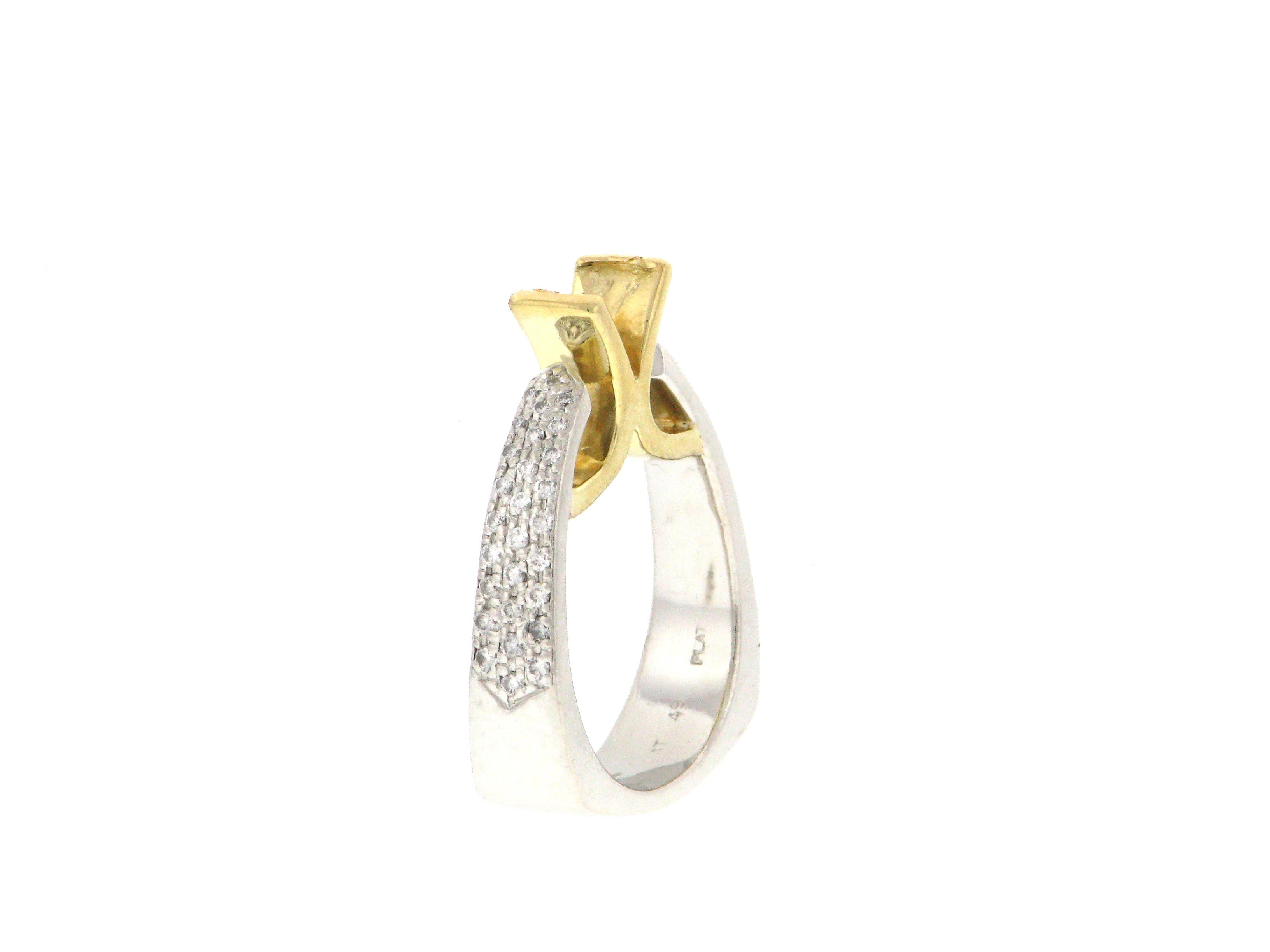 Platinum Gold Diamond From High End Designer Store 18k Semi