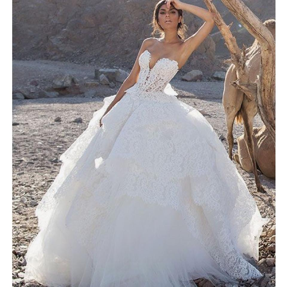 Pnina tornai white lace and pearl 2017 gown sexy wedding dress 12345 junglespirit Choice Image
