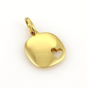 Pomellato Pomellato 18k Gold Square Cut Out Heart Pendant