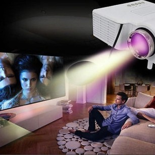 Portable Mini HD LED Projector PC Laptop Home Cinema Theater Office VGA USB HDMI