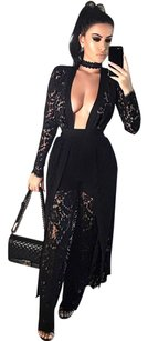 Posh Girl Lace Pant Suit Duster Pant Set Bandage Pant Set Dress
