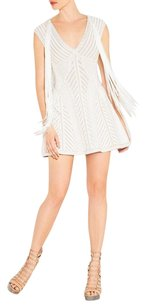 Posh Girl White Party Bandage Mini Cocktail Dress
