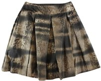 Prada 44 Pleated Lk Skirt