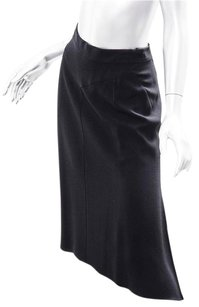 Prada Womens Length Fishtail Classic Skirt Black