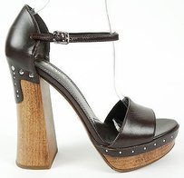Prada Leather Ankle Brown Platforms