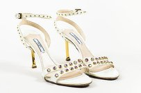 Prada Patent Leather White Sandals
