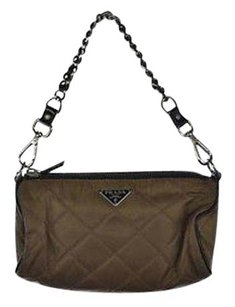 Prada Womens Quilted Baguette