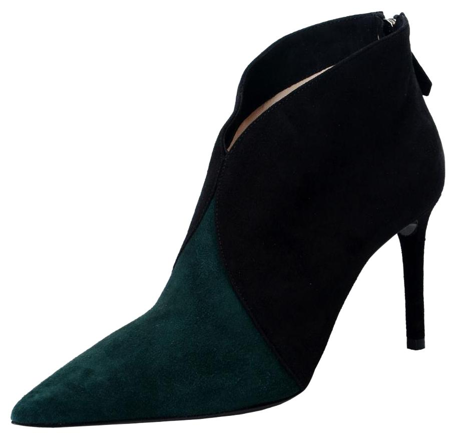 Prada Black & Forest Green Boots ...