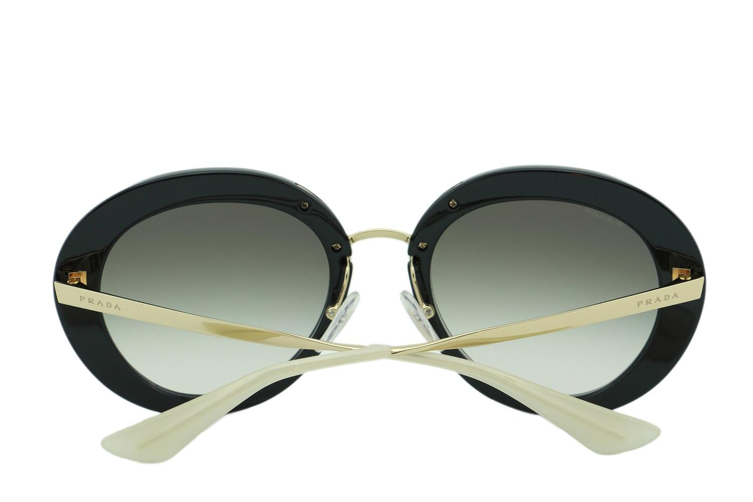 1c8431842b9b ... where to buy prada black and gold spr16q round 2015 cinema collection  italy sunglasses 2cec4 b61be germany ...