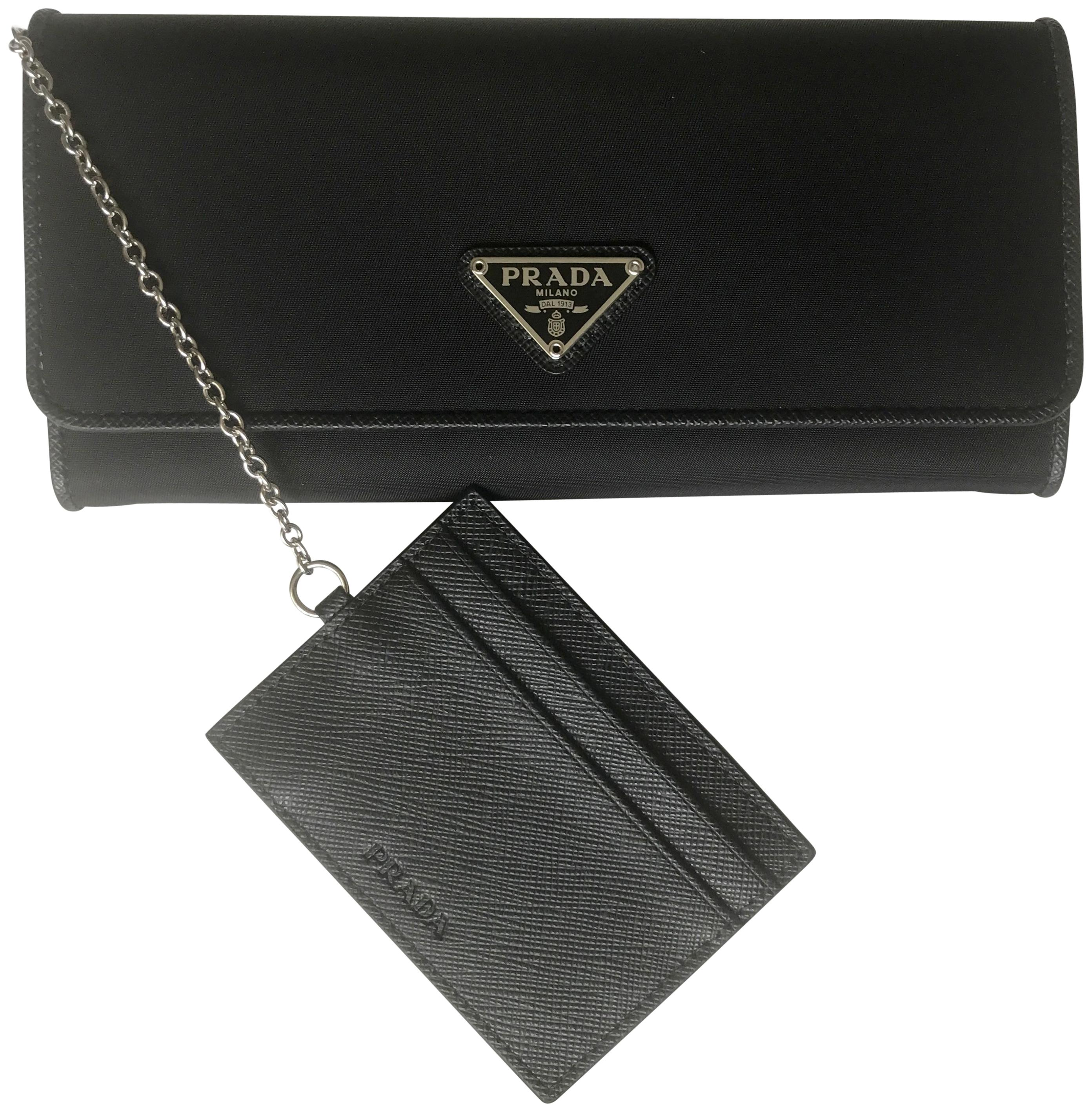 34aa6e84e0df authentic prada tessuto vitello wallet credit card holder new in box 1mh132  e727e 5faf6