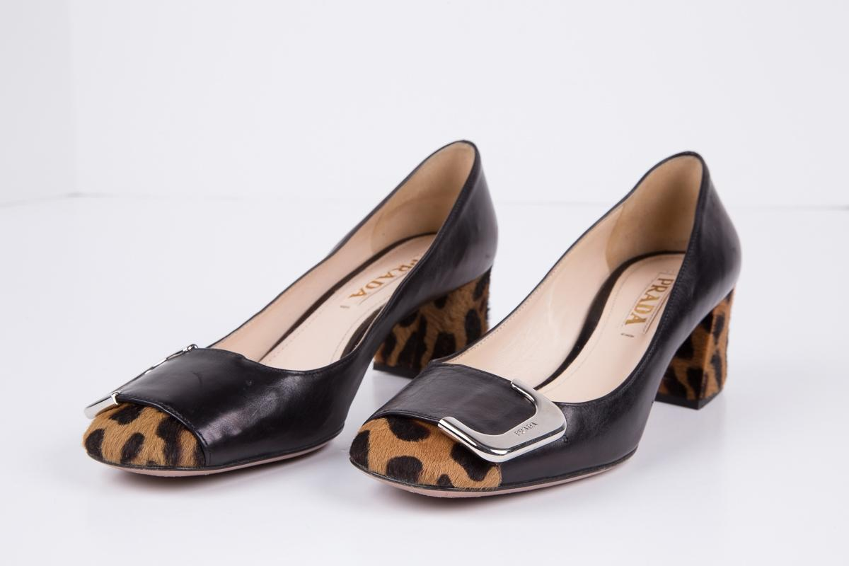 Prada Printed Square-Toe Pumps new arrival cheap price buy cheap professional outlet get authentic o39Kq6fMi