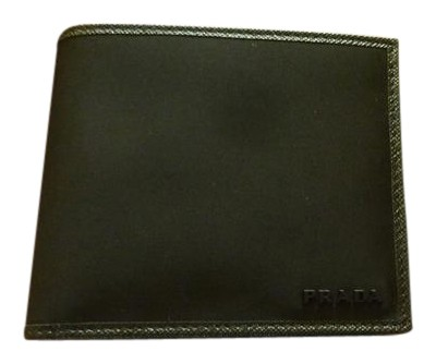 dea00a14d216ad ... store prada 400 prada mens 2mo513 black nylon logo bi fold wallet w  leather 81753 695c9