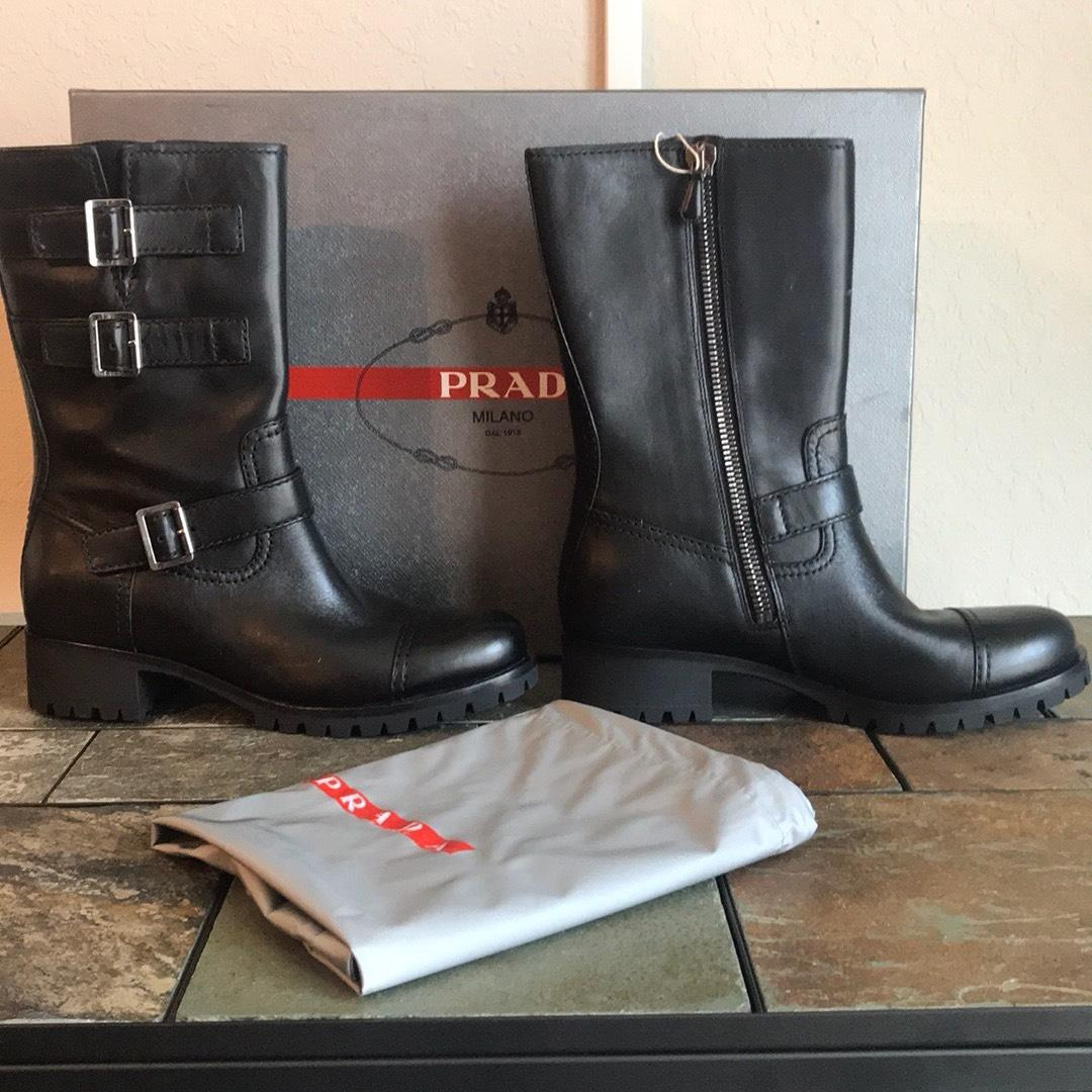 5e2a59df3a14 Prada Black New New New Boots Booties Size EU 41 (Approx. US 11 ...