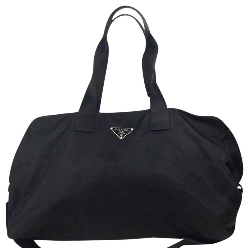 Prada Nylon Weekender Duffle Black Travel Bag on Sale, 52% Off ...