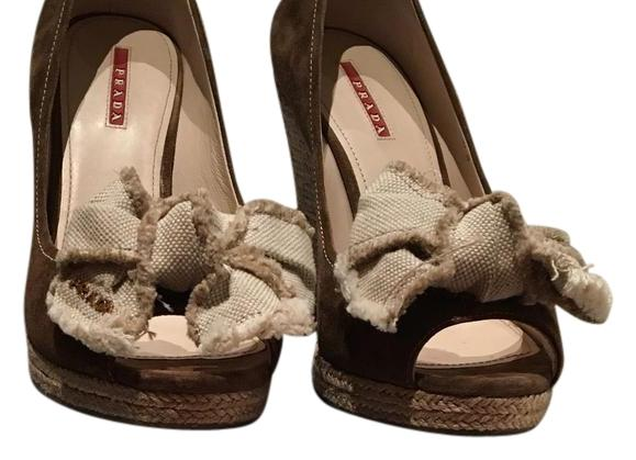 76e14b25c20e Prada Brown 93388054 Wedges Size US 9 Regular Regular Regular (M