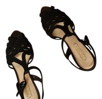 Prada Brown and black suede Sandals