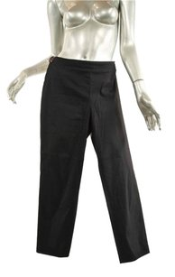 Prada Black Cotton Blend Crop Relaxed Pants Blacks