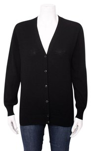 Prada Button Up V Neck Long Sleeve Wool Lightweight Knit Cardigan 1042l Sweater
