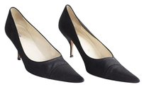 Prada Cotton Classic Black Pumps