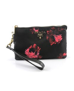Prada Nylon Black Clutch