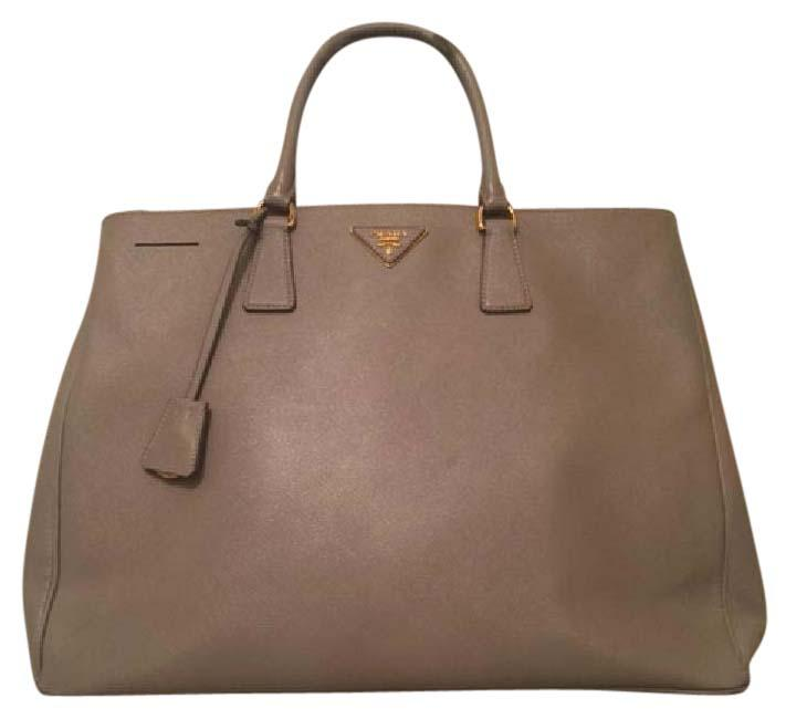 55d75443eaecb8 ... new style prada double lux saffiano zip serial number 117 on tag in  liner tan leather