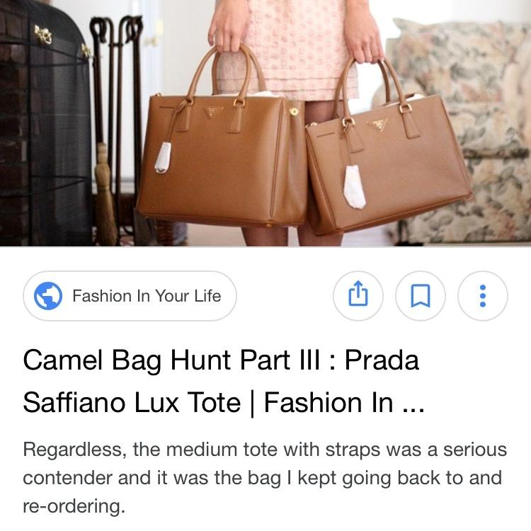 b965db728e9d ... reduced best price prada double saffiano zip tote in medium camel  leather satchel tradesy e7cd1 fd021