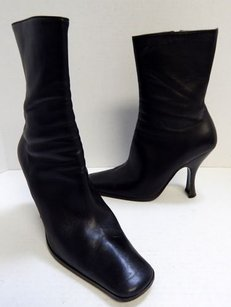 Prada Leather Ankle Black Boots