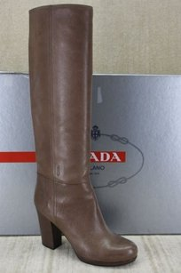 Prada Knee High Brown Leather Browns Boots