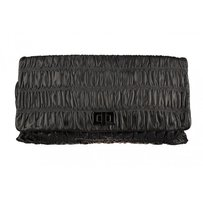 Prada Gauffre Handbag Black Clutch