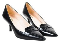 Prada Glossy Leather Black Pumps